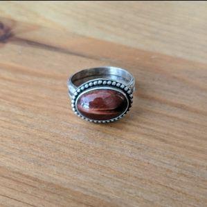 Tigers Eye Sterling Silver Ring (7.5)